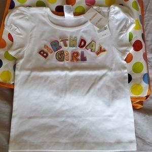 NWT Gymboree Birthday Girl tee 6